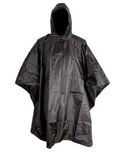 Army Poncho Black Military Waterproof